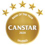 Canstar Bank of the Year for Savings in 2020.